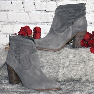 Perforated Suede Ankle Boots - Fretzia (Sz 9M)